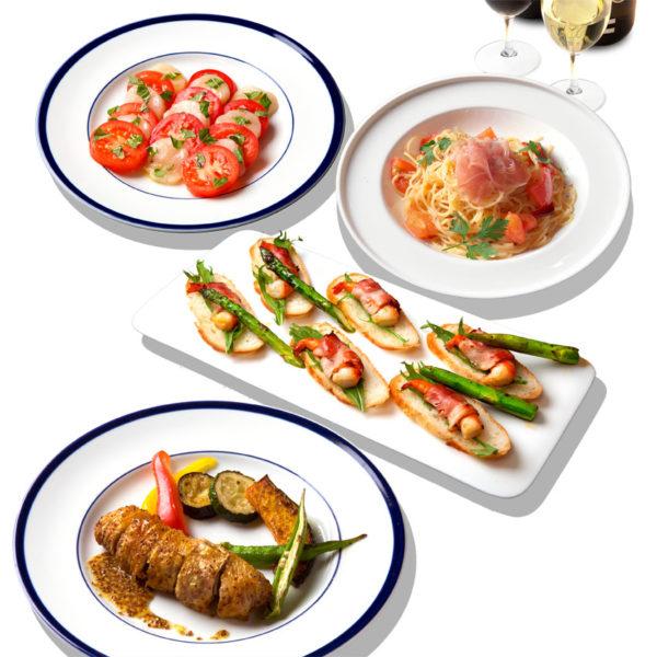 ランチ&ディナーパーティーコース【2時間フリードリンク】8名様〜 2,980円 /人(税込)
